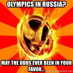 Typical fan of the hunger games - OLYMPICS in russia? may the odds ever been in your favor...