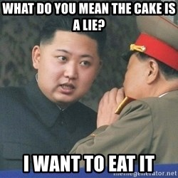 What Do You Mean....Kim Jong Un - What do you mean the cake is a lie? I want to eat it