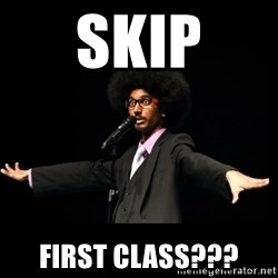 AFRO Knows - skip first class???