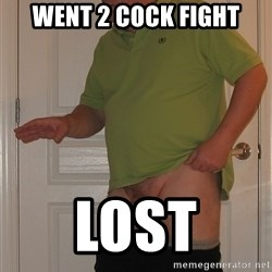 Tiny Dick Guy - went 2 cock fight lost