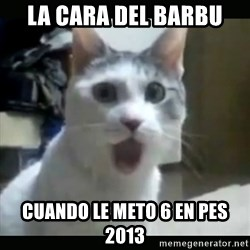 Surprised Cat - la cara del barbu cuando le meto 6 en pes 2013