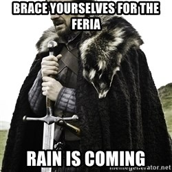 Ned Stark - BRACE YOURSELVES FOR THE FERIA RAIN IS COMING