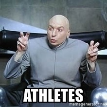 Dr. Evil finger quotes -  athletes