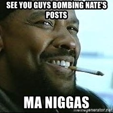 Denzel Washington Cigarette - see you guys bombing nate's posts ma niggas