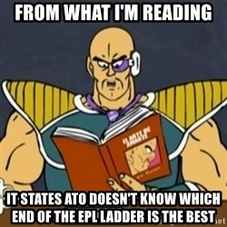 El Arte de Amarte por Nappa - FROM WHAT I'M READING IT STATES ATO DOESN'T KNOW WHICH END OF THE EPL LADDER IS THE BEST