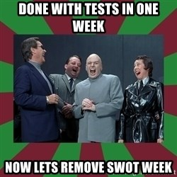 evil teacher - Done with tests in one week now lets remove swot week