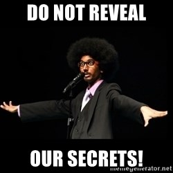 AFRO Knows - do not reveal our secrets!