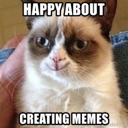 Happy Grumpy Cat 2 - happy about creating memes