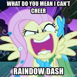 angry-fluttershy - WHat do you mean I can't cheer Raindow Dash