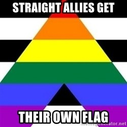 Bad Straight Ally - STRAIGHT ALLIES GET THEIR OWN FLAG