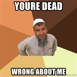 Ordinary Muslim Man - youre dead wrong about me