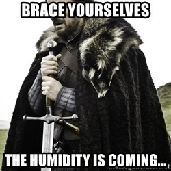 Ned Stark - Brace yourselves the humidity is coming...