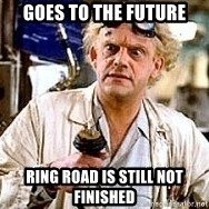 Doc Back to the future - Goes to the future Ring roAd is still not finished