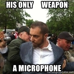Adam Kokesh - His Only      Weapon A Microphone