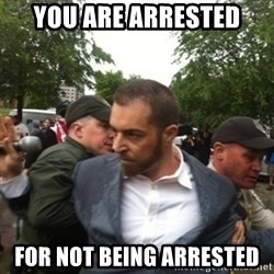 Adam Kokesh - You are arrested For Not BEing Arrested