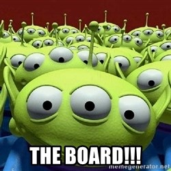 Toy Story Aliens Claw  -  THE BOARD!!!