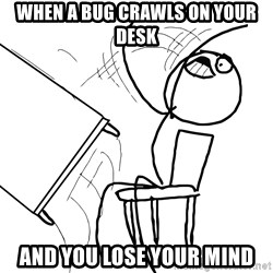 Desk Flip Rage Guy - when a bug crawls on your desk and you lose your mind