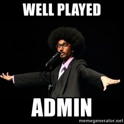 AFRO Knows - well played admin