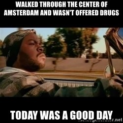 Ice Cube- Today was a Good day - Walked through the center of Amsterdam and wasn't offered drugs today was a good day