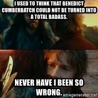 Never Have I Been So Wrong - I used to think that Benedict Cumberbatch could not be turned into a total badass. Never have I been so wrong.