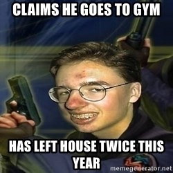 True player of Counter Strike - claims he goes to gym has left house twice this year
