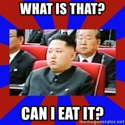 kim jong un - what is that? Can i eat it?