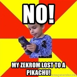 Pokemon Idiot - no! my zekrom lost to a pikachu!