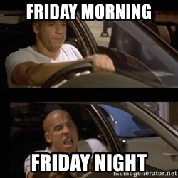 Vin Diesel Car - friday morning friday night