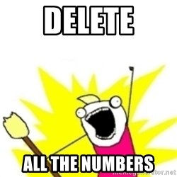 x all the y - Delete All the numbers