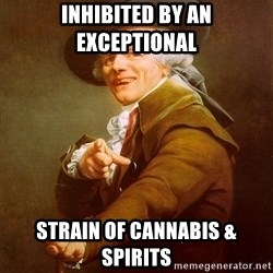 Joseph Ducreux - Inhibited by an exceptional strain of cannabis & spirits