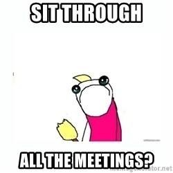 sad do all the things - sit through all the meetings?