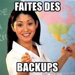 Terrible  Teacher - FAITES DES BACKUPS