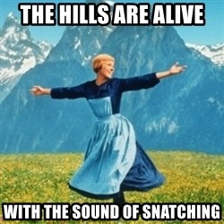Sound Of Music Lady - The hills are alive with the sound of snatching