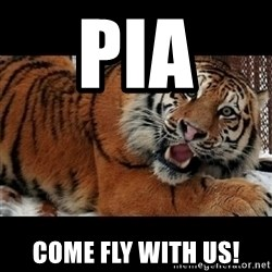 Sarcasm Tiger - PIA  Come fly with us!