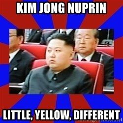 kim jong un - Kim Jong nuprin Little, yellow, different