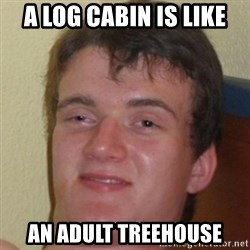 10guy - A log cabin is like an adult treehouse