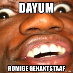 Wow Black Guy - DAYUM Romige Gehaktstaaf