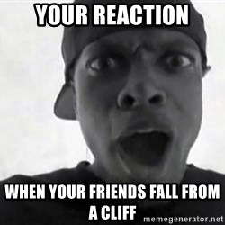 Chris TUcker - Your reaction When your friends FAll from a cliff