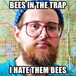 I ONLY LISTEN TO TRAP MUSIC - BEES IN THE TRAP I HATE THEM BEES