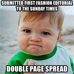 Victory Baby - Submitted first fashion editorial to The sunday times Double page spread