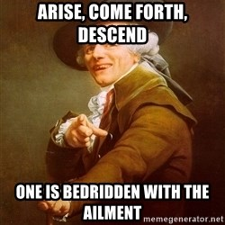 Joseph Ducreux - arise, come forth, descend one is bedridden with the ailment