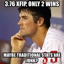 Thinking Hamels - 3.76 xFIP, only 2 wins Maybe traditional stats are junk?