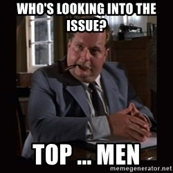 Indiana Jones: Raiders of the Lost Ark - Who's looking into the issue? top ... men