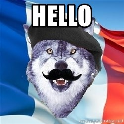 Monsieur Le Courage Wolf - hello