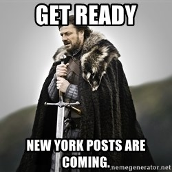 ned stark as the doctor - Get ready New York posts are coming.
