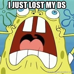Enraged Spongebob - I just lost my ds