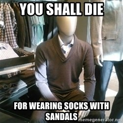 Trender Man - You shall die for wearing socks with sandals