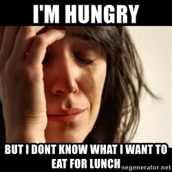 crying girl sad - I'm HUNGRY BUT I DONT KNOW WHAT I WANT TO EAT FOR LUNCH