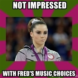 Kayla Maroney -  not impressed with Fred's music choices