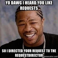 Yo Dawg - yo dawg i heard you like requests so i directed your request to the RequestDirector